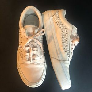 Vans leather pale pink size 7
